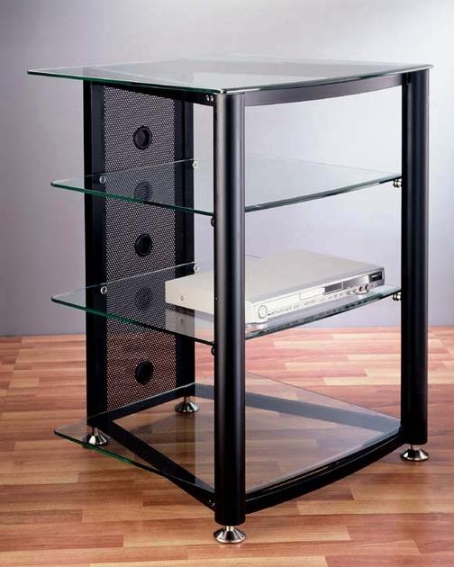 VTI Audio/Video Glass  Rack, RGR404,  Brand New in Box !