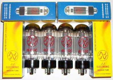 JJ Electronics 6L6GC tubes brand new matched quads !