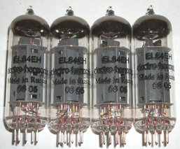 Electro Harmonix EL84 tubes, Matched quads, new