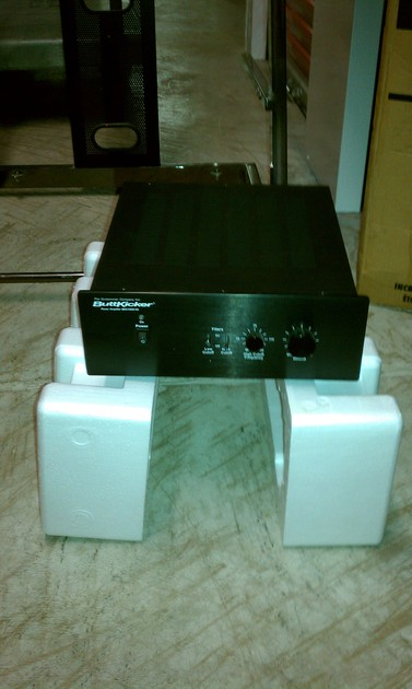 Buttkicker amp, chair kit, and actuator