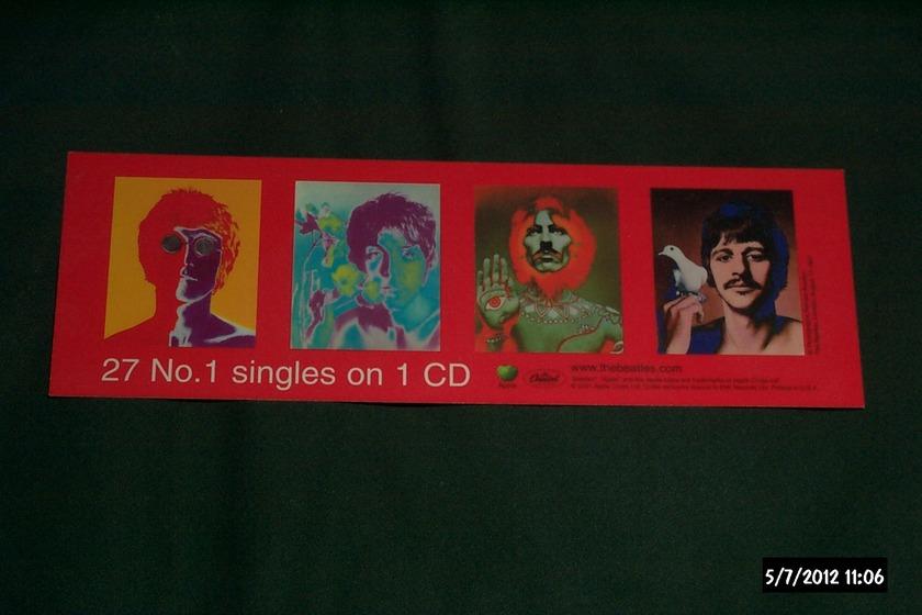 The Beatles - Promo  1's bookmark apple records