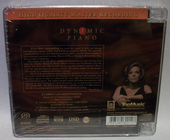 Carol Rosenberger, - Dynamic Piano, by top music brand new sacd