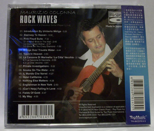 Maurizio Colonna ¨C - Rock Waves live guitar, top music cd, new