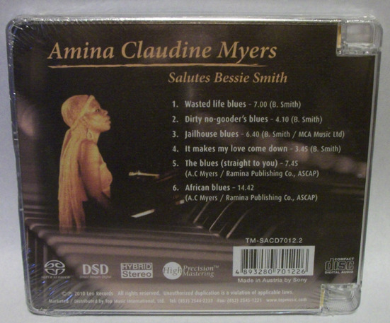 Amina Claudine - Myers Salutes bessie smith, Top Music SACD