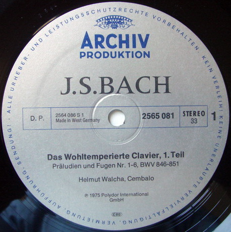 Archiv / HELMUTH WALCHA, - Bach The Well-Tempered Clavier, NM, 5LP Box Set!