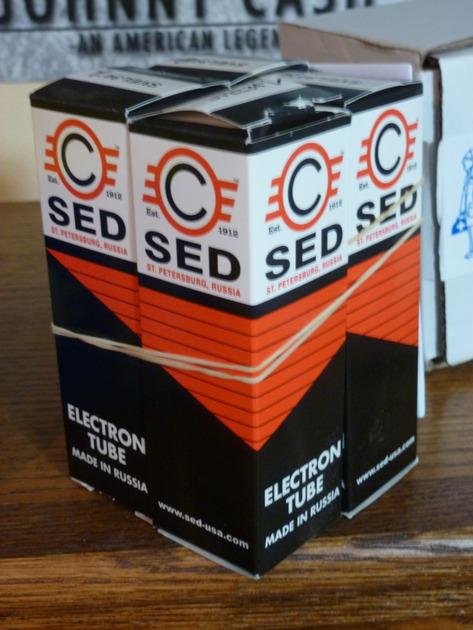 "SED ""Winged C"" EL34/SVEL34 tubes, matched quad, NEW"