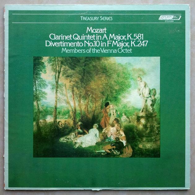 London ffrr | VIENNA OCTET/MOZART - Clarinet Quintet K.581, Divertimento No. 10 K.247 / NM