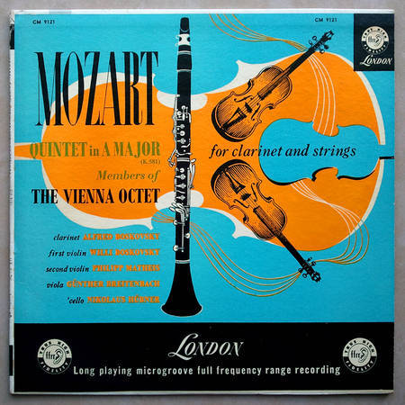 LONDON ffrr | VIENNA OCTET/MOZART - Quintet in A Major for clarinet and strings K.581 / EX