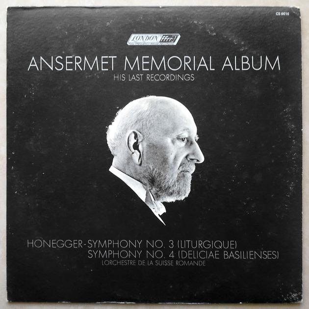 London ffrr | ANSERMET/HONEGGER - Symphonies Nos. 3 & 4 / NM