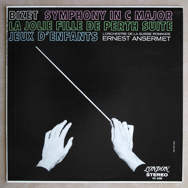 London ffrr | ANSERMET/BIZET - Symphony in C, La jolie fille de Perth, Jeux d'enfants / NM