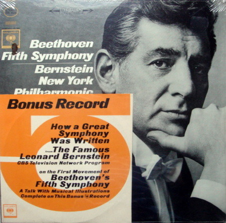 "★Sealed★ Columbia / BERNSTEIN, - Beethoven Symphony No.5, with 7""  Bonus LP!"