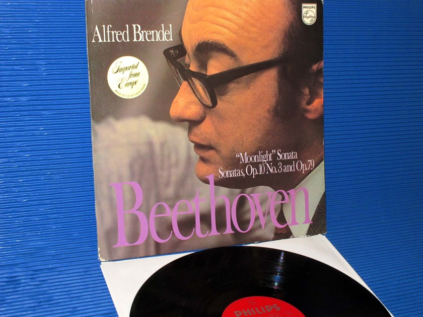 "BEETHOVEN/Brendel -  - ""Sonata 14 (Moonlight), 25 & 7"" -  Philips import 1972 1st pressing"