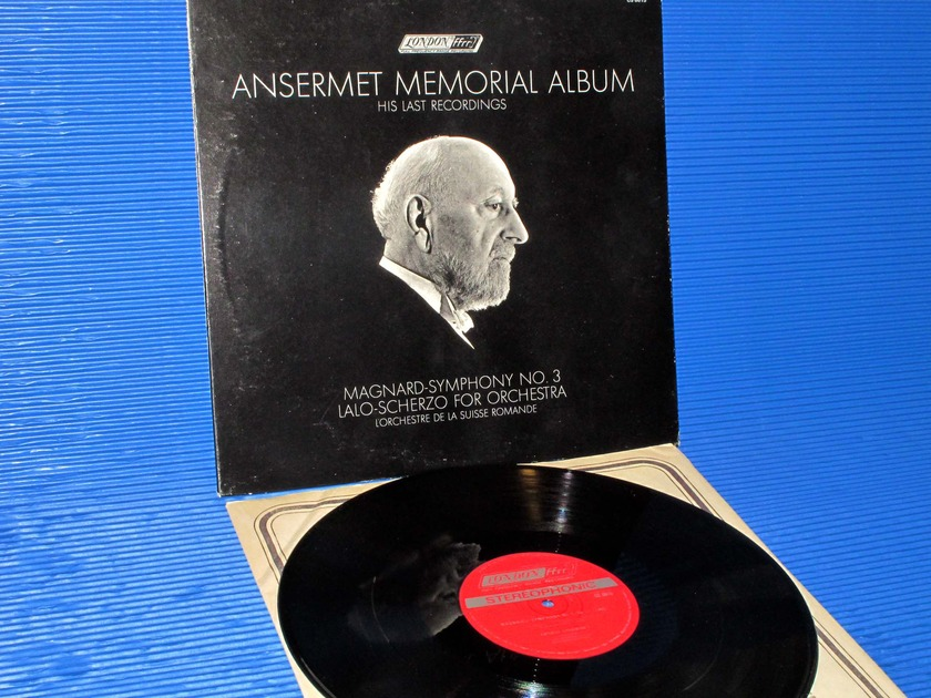 "ANSERMET MEMORIAL ALBUM -  - ""Magnard Symphony 3/Lalo Scherzo"" -  London1969 early Pressing"