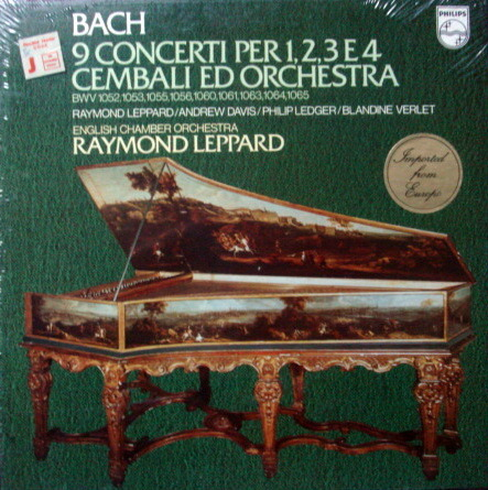 ★Sealed★ Philips / LEPPARD, - Bach 9 Concertos for 1,2,3 & 4 Harpsichords, 3LP Box Set!