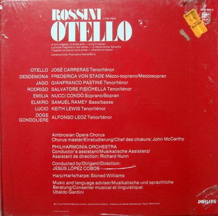 ★Sealed★ Philips / CARRERAS-COBOS, - Puccini Othello, 3LP Box Set!