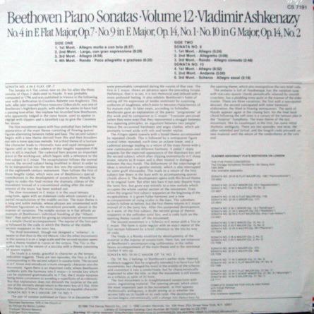 ★Sealed★ London-Decca / - ASHKENAZY, Beethoven Piano Sonatas No.4, 9 & 10!