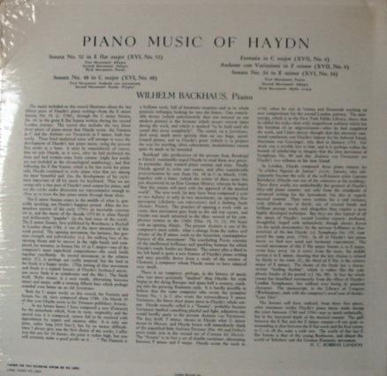 ★Sealed★ London-Decca / - BACKHAUS, Piano Music of Haydn!