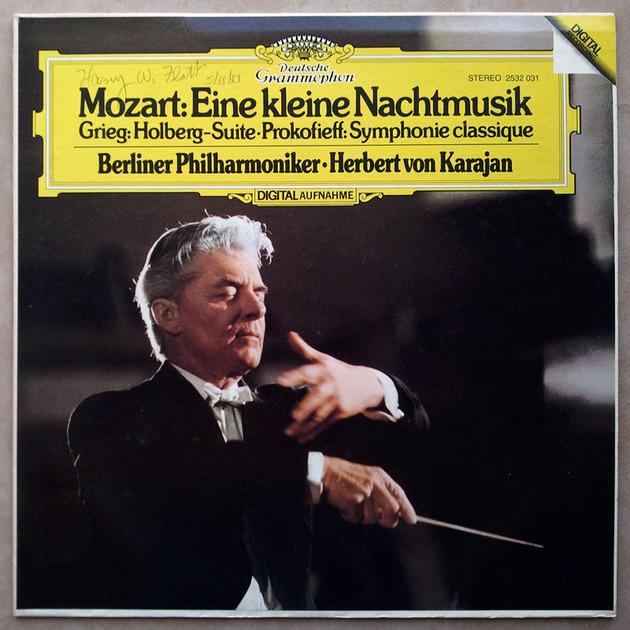 DG Digital | KARAJAN/MOZART - Eine kleine Nachtmusik/GRIEG Holberg Suite, Prokofiev Classical Symphony  / NM
