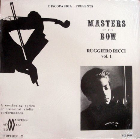 ★Sealed Audiophile★ Discopaedia /  - RUCCIERO RICCI, Master Of Bow Vol.1!