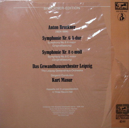 ★Sealed★ Eurodisc / MASUR, - Bruckner Sym No.6 & 8, 3LP Box Set!