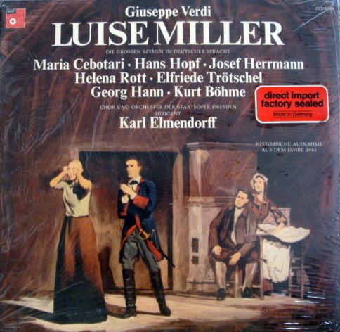 ★Sealed★ Basf / ELMENDORFF, - Verdi Luise Miller, 2LP Set!