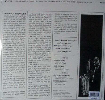 ★Sealed Audiophile 180g★ Doxy Music / - JOHN COLTRANE-CECIL TAYLOR, Coltrane Time!
