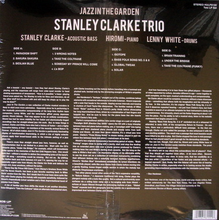 ★Sealed Audiophile 180g★ Heads Up Records / - STANLEY CLARKE TRIO, Jazz in the Garden, 2LP Set!