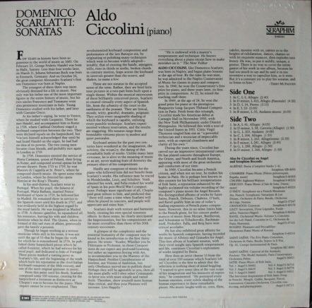 ★Sealed★ EMI Seraphim / - ALDO CICCOLINI, Scarlatti Sonatas