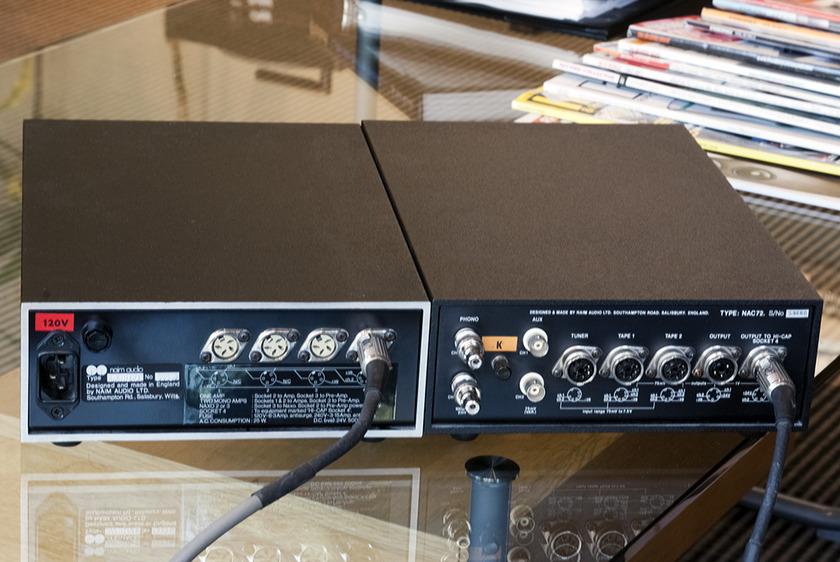 Naim NAC72 + HI-CAP. Preamplifier With Optional Power Supply. Type K MC Phono Card.