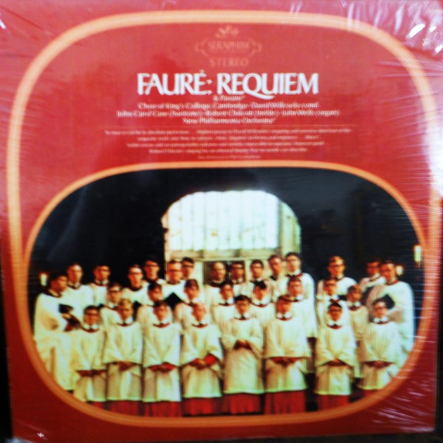 FACTORY SEALED ~FAURE~REQUIEM AND PAVANE~CHOIR OF KINGS COLLEGE, CAMBRIDGGE - New Philharmonia Orchestra SERAPHIM S 60096 (1969)