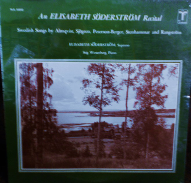 FACTORY SEALED ~ ELIZABETH SODERSTROM ~ AN RECITAL ~  - SWEDISH SONGS ~ STIG WESTERBERG, PIANO ~  TURNABOUT TVS 34542 (1966)