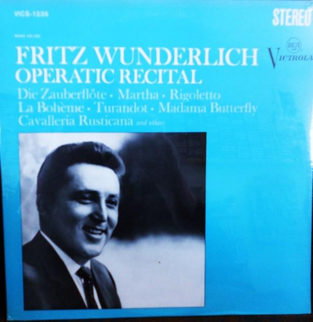 FACTORY SEALED ~ FRITZ WUNDERLICH ~  - OPERATIC RECITAL ~  RCA VICS 1235 (1967)