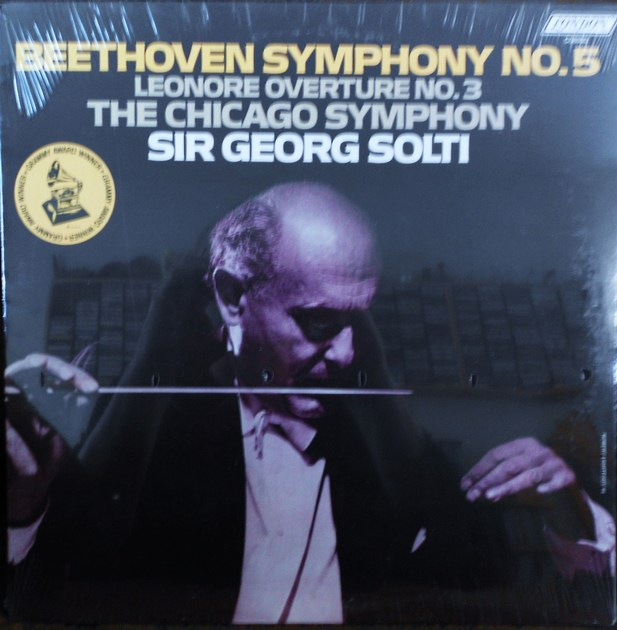 FACTORY SEALED ~ SIR GEORGE SOLTI ~ GRAMMY AWARD WINNER ~ CHICAGO SYMPHONY ~  - BEETHOVEN~SYMPHONY NO. 5 ~LEONORE OVERTURE ~  LONDON CS 6930 (1976)