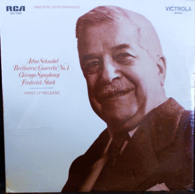FACTORY SEALED ~ ARTUR SCHNABEL ~ BEETHOVEN ~  - CONCERTO NO 4~CHICAGO SYMPHONY ~ RCA VIC 1505 (1970)