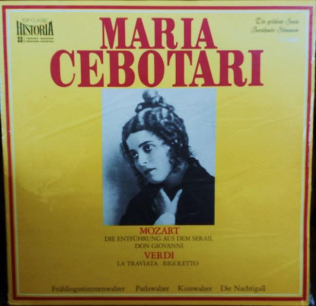 FACTORY SEALED ~  - MARIA CEBOTARI ~MOZART & VERDI~SINGT ARIEN UND LIEDER ~ HISTORIA TC 9060 TOP CLASSIC (GERMAN) (1969)
