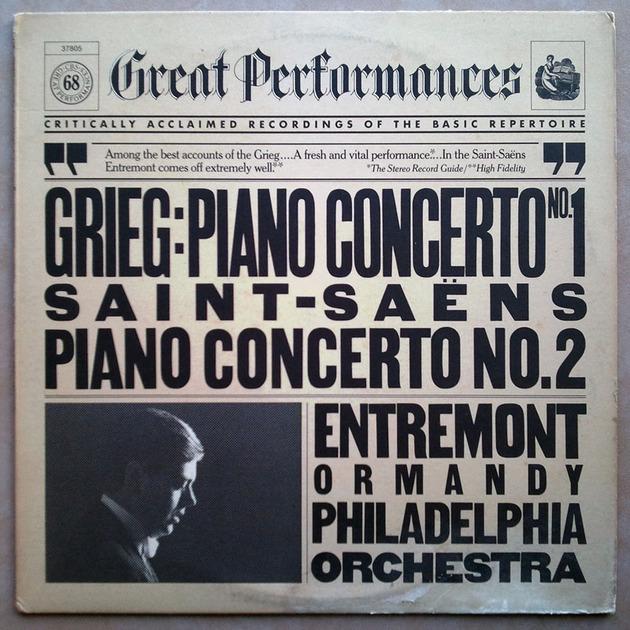 CBS | ENTREMONT/GRIEG & SAINT-SAENS - Piano Concertos / NM