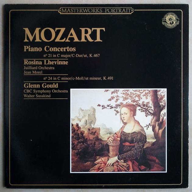 CBS   GOULD/MOZART - Piano Concerto No. 24   LHEVINNE/MOZART Piano Concerto No. 21 / NM