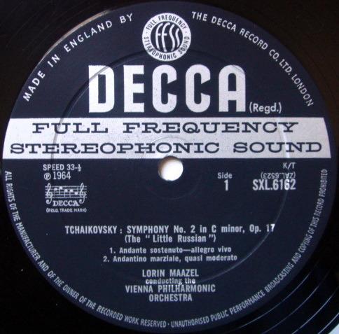DECCA SXL-WB-ED2 / MAAZEL, - Tchaikovsky Symphony No.2 Little-Russian, NM-!