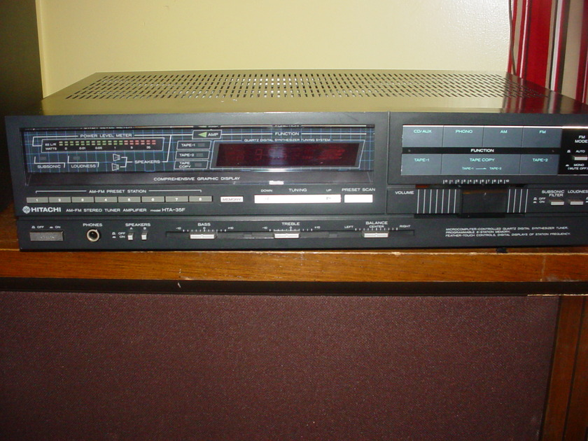 hitachi  hta 35f stereo receiver from 1986 $35