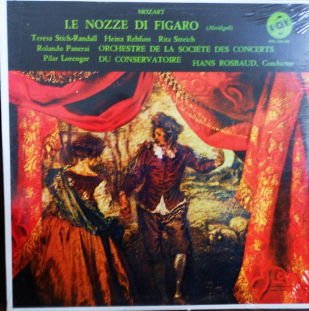 FACTORY SEALED ~ HANS ROSBAUD ~  - MOZART~LE NOZZE DI FIGARO (ABRIDGGED) ~  VOX STPL 515.120 STEREO (1960)
