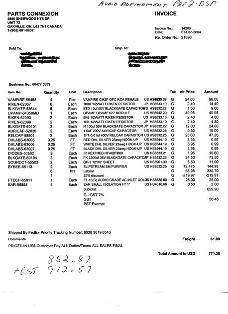 Audio Refinement Pre 2 DSP {with mods form Parts Connextion}