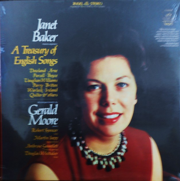 FACTORY SEALED ~ JANET BAKER ~  - A TREASURY OF ENGLISH SONGS 1597-1961~GERALD MOORE (PIANO) ~  ANGEL S 36456 (1968)