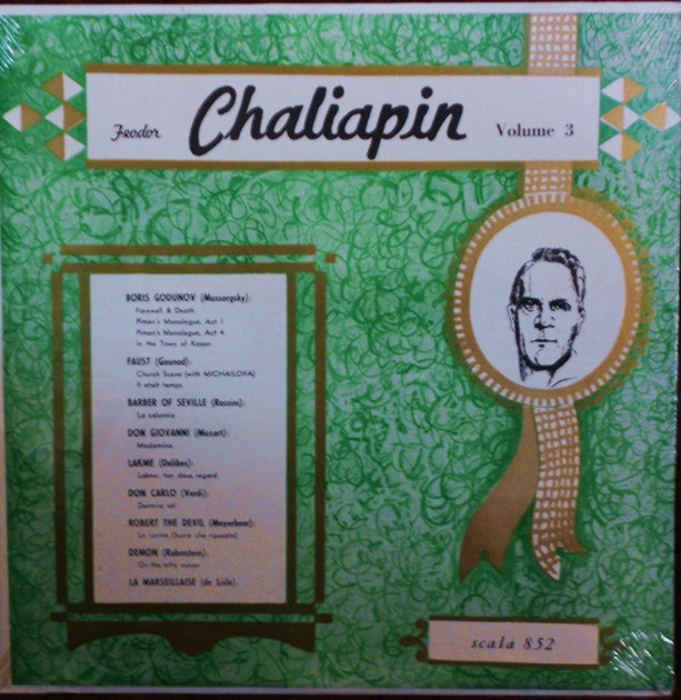 FACTORY SEALED ~ FEODOR CHALIAPIN ~  - IMMORTAL PERFORMANCES VOLUME 3 ~  SCALA 852 (1968)