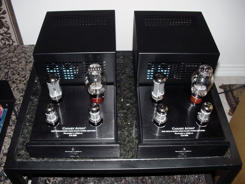 Canary Audio CA-308 300B single-ended mono block amps
