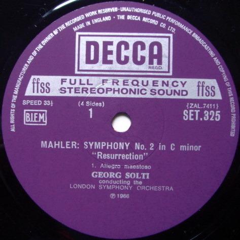 DECCA SET-NB-ED5 / SOLTI, - Mahler Symphony No.2, NM, 2LP Box Set!
