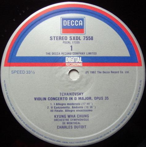 DECCA Digital SXDL / KYUNG-HWA CHUNG-DUTOIT, - Tchaikovsky Violin Concerto, NM!