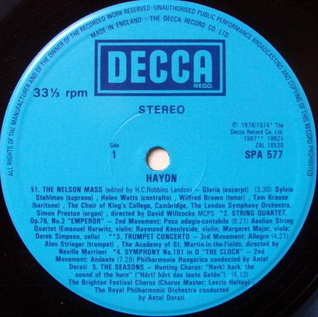 DECCA UK / DORATI, - The World of Haydn, NM!