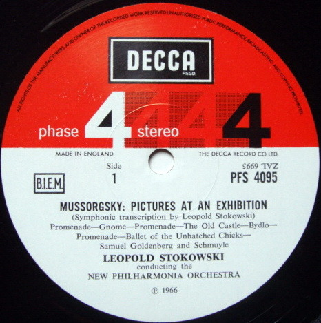 DECCA PHASE 4 STEREO / STOKOWSKI, - Mussorgsky Pictures at an Exhibition, NM, TAS LP!
