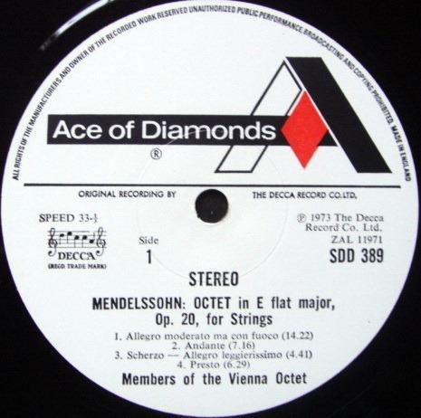 DECCA SDD / VIENNA OCTET, - Mendelssohn Octet, NM!