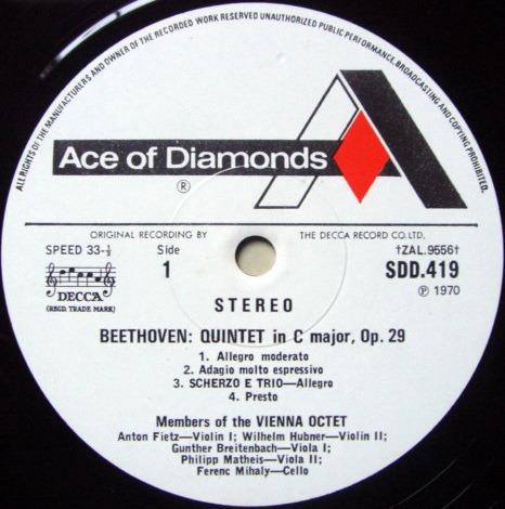 DECCA SDD / VIENNA OCTET, - Beethoven Quintet & Sextet, NM!